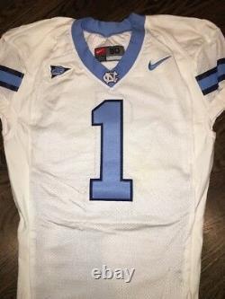 Game Worn Used Nike North Carolina Tar Heels UNC Football Jersey #1 Size 50