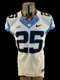 Game Worn Used Nike North Carolina Tar Heels UNC Football Jersey #25 Size 40