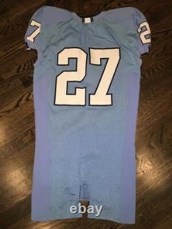 Game Worn Used Nike North Carolina Tar Heels UNC Football Jersey #27 Size 42