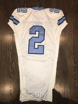 Game Worn Used Nike North Carolina Tar Heels UNC Football Jersey #2 Size 48