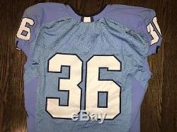 Game Worn Used Nike North Carolina Tar Heels UNC Football Jersey #36 Size 44