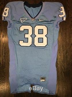 Game Worn Used Nike North Carolina Tar Heels UNC Football Jersey #38 Size 46