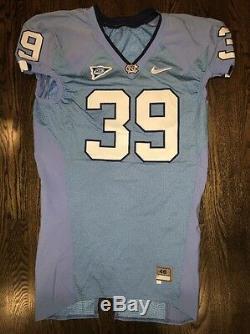 Game Worn Used Nike North Carolina Tar Heels UNC Football Jersey #39 Size 46