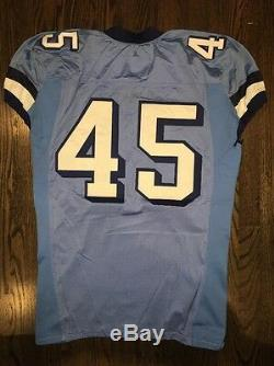 Game Worn Used Nike North Carolina Tar Heels UNC Football Jersey #45 Size 52