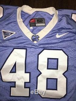 Game Worn Used Nike North Carolina Tar Heels UNC Football Jersey #48 Size 52