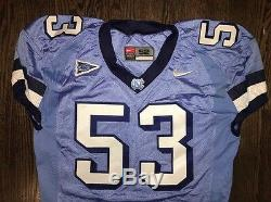 Game Worn Used Nike North Carolina Tar Heels UNC Football Jersey #53 Size 52