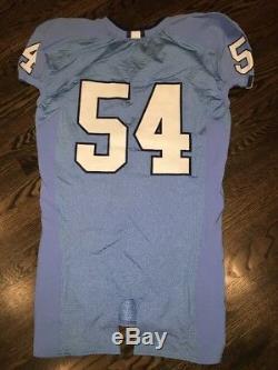 Game Worn Used Nike North Carolina Tar Heels UNC Football Jersey #54 Size 46