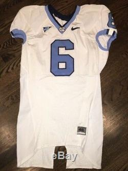 Game Worn Used Nike North Carolina Tar Heels UNC Football Jersey #6 Size 46