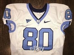 Game Worn Used Nike North Carolina Tar Heels UNC Football Jersey #80 Size 46