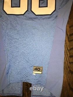 Game Worn Used Nike North Carolina Tar Heels UNC Football Jersey #86 Size 40