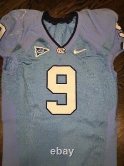 Game Worn Used Nike North Carolina Tar Heels UNC Football Jersey #9 Size 46