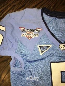 Game Worn Used North Carolina Tar Heels UNC Football BOWL Jersey THORPE