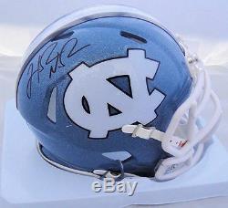 Hakeem Nicks Signed UNC North Carolina Tar Heels Mini Helmet JSA