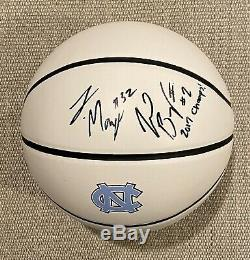 JOEL BERRY LUKE MAYE Signed Autographed 2017 UNC TAR HEELS Champions Basketball