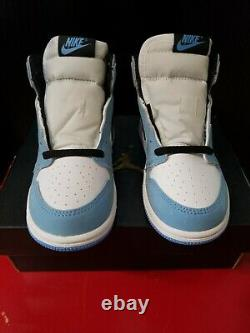 Jordan 1 Retro High University Blue AQ2665-134 Size 10C UNC Tar Heels