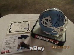 Julius Peppers Signed Autographed UNC North Carolina Tar Heels Mini Helmet / COA