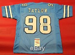 Lawrence Taylor Autographed Unc Tar Heels Jersey Jsa Lt North Carolina