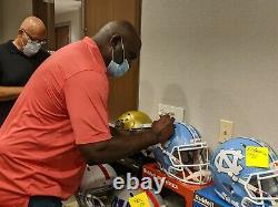 Lawrence Taylor Signed UNC TAR HEELS Full Size Replica Speed Helmet JSA COA