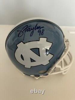 Lawrence Taylor Signed UNC TAR HEELS Mini Helmet COA