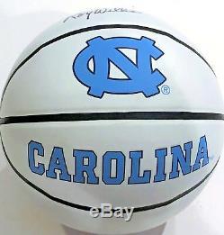 Luke Maye UNC Tar Heels Signed Logo Basketball WithCOA North Carolina Champions