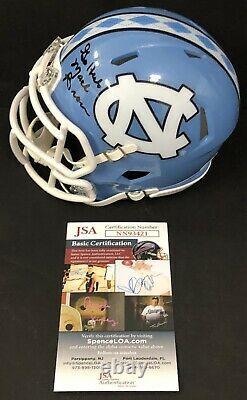 Mack Brown Signed Autographed UNC North Carolina Tar Heels Mini Helmet JSA