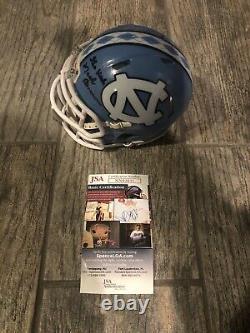 Mack Brown Signed North Carolina Tar Heels Mini Helmet Jsa Coa Coach Unc Texas