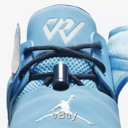 Mens Nike Jordan Why Not Zero 1 UNC Tar Heels AA2510-402 NWB $125 Size 12