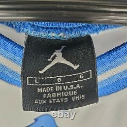 Michael Jordan 23 North Carolina Tar Heels UNC Jersey Men's L White Blue