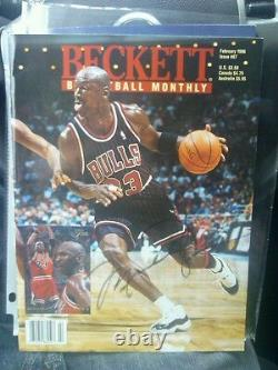 Michael Jordan Chicago Bulls Signed Beckett Magazine UNC North Carolina Tarheels