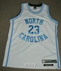 Michael Jordan North Carolina Tar Heels UNC Nike Air Jordan Basketball Jersey M