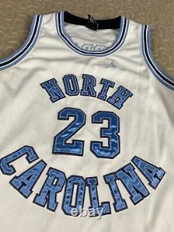Michael Jordan UNC North Carolina Tar Heels Throwback Nike Jersey Sz M Auth