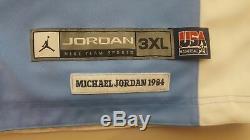 Michael Jordan UNC Tar Heels USA Olympics Reversible Basketball Jersey Mens 3XL
