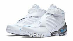 NEW Nike Zoom Vick 3 III White Blue UNC Tar Heels Colorway Men's 11.5 832698-100