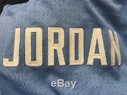 NIKE AUTHENTIC MICHAEL AIR JORDAN UNC NORTH CAROLINA TARHEELS JERSEY BLUE sz L