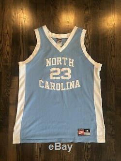 NIKE Authentic MICHAEL JORDAN #23 UNC North Carolina Tar Heels Jersey Size 48 XL