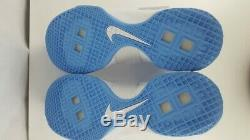 NIKE Mens NWOB Size 13.5 Lebron Soldier 10 856489-142 White Blue UNC Tarheels