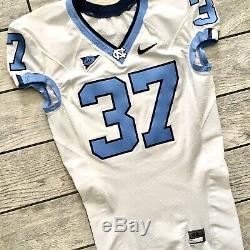 NIKE North Carolina Tar Heels UNC Game Used Football Jersey Sz. 42 White EUC
