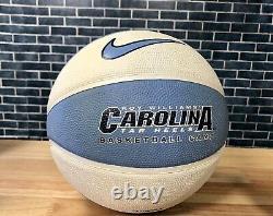 NIKE Roy Williams Basketball Camp Basketball UNC Tar Heels Blue 29.5 Full Signed