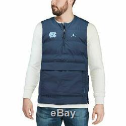 NWT Carolina Tar Heels UNC Nike Jordan Protect Shield 1/2-Zip Pullover Vest 2XL