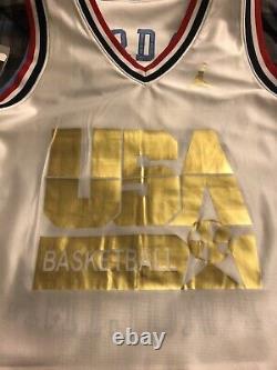 NWT Michael Jordan 1992 USA Dream Team UNC Nike Reversible Stitched Jersey Sz L