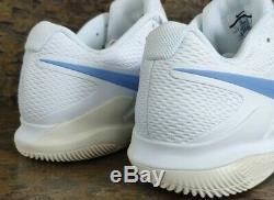NWT Nike Air Zoom Vapor X HC Tennis Shoes UNC Tarheels Blue- AA8030-100 SZ-9