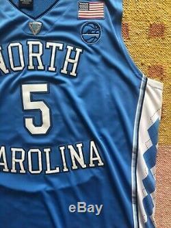 Nassir Little Signed Autograph UNC Tarheels Jersey NBA Portland Trail Blazers
