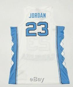 New Air Jordan UNC Tar Heels Jordan 23 Stitched Home Basketball Jersey Sz XL