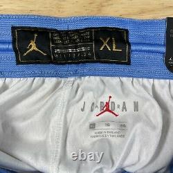 New Jordan UNC Tarheels Basketball Shorts Mens Sz XL White Blue CD3170-100
