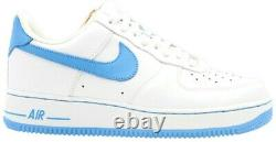 New Nike Air Force 1'07 UNC Tar Heel'University Blue' White Size 14 315122-148