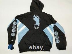New Starter North Carolina UNC Tar Heels Hooded Championship Jacket Men's Sz XL