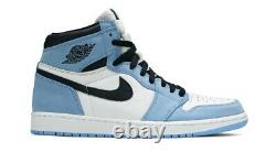 Nike Air Jordan 1 Retro High OG University Blue Size 12 UNC Tarheels 555088-134