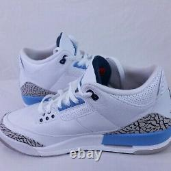 Nike Air Jordan 3 III Retro UNC 2020 Carolina Powder Blue Tar Heels Cement 10.5