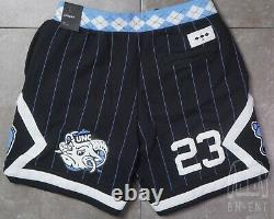 Nike Air Jordan NRG UNC North Carolina Tarheels Fleece Shorts CD0133-010 Medium