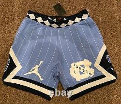 Nike Air Jordan NRG UNC North Carolina Tarheels Fleece Shorts CD0133 448 L Large